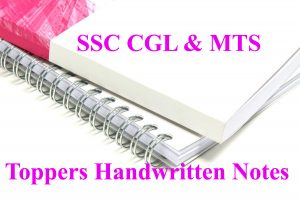 SSC CGL Toppers Handwritten notes