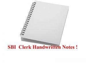 SBI Clerk Notes