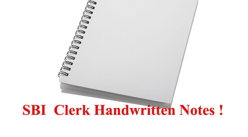 SBI Clerk Notes