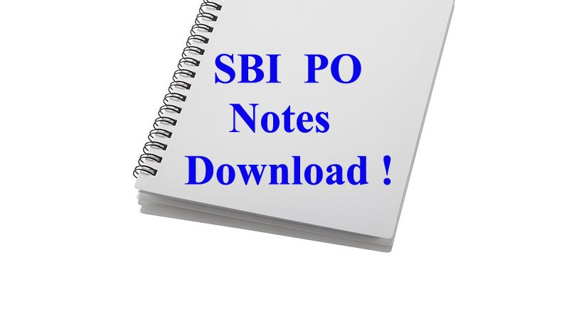 sbi po toppers study material