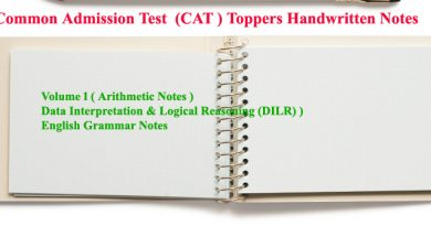 Common Admission Test  (CAT ) notes