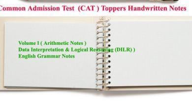 Common Admission Test (CAT ) notes