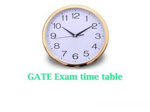 time table GATE exam