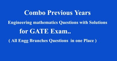 Previous Years Questions with Solutions GATE