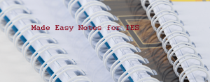 Made Easy handwritten notes for IES