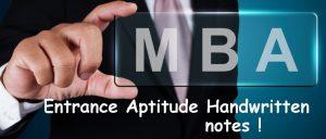mba Aptitude Handwritten Notes