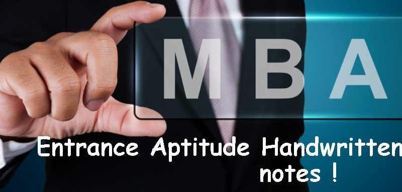 mba Aptitude Handwritten Notes
