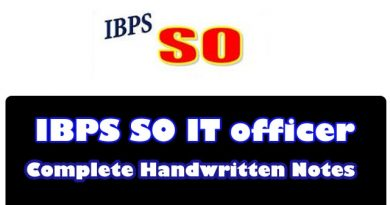 IBPS SO IT officer Toppers Complete Handwritten Notes 2022 Download!