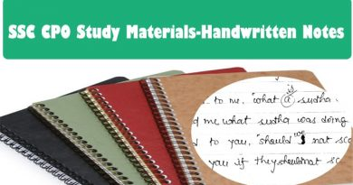 SSC CPO Study Materials-Handwritten Notes