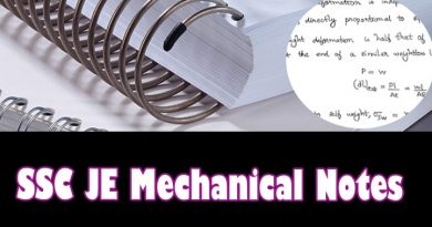 SSC JE Mechanical 2019 Toppers Complete Handwritten Notes!