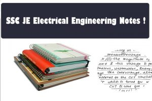 ssc JE Electrical Study Material Handwritten Notes