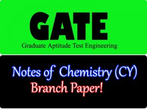 GATE Chemistry CY