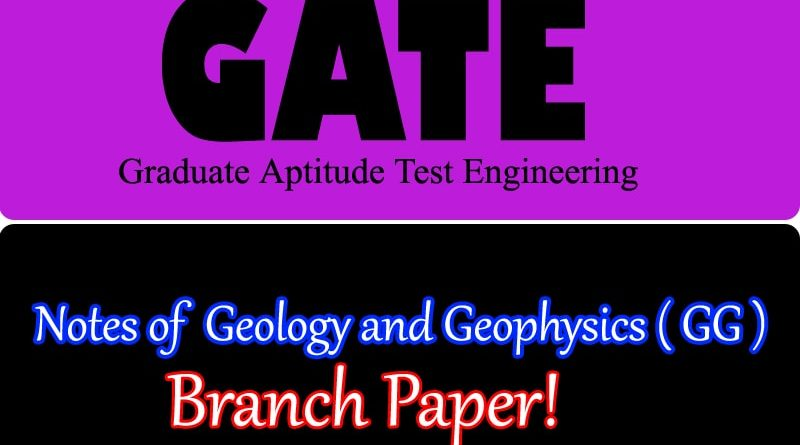 GATE Geology and Geophysics GG
