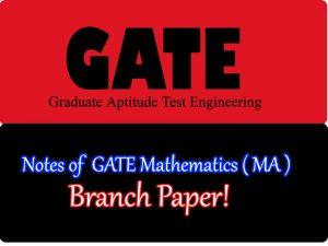 GATE Mathematics ( MA )