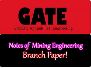 GATE Mining Engineering