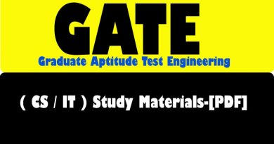 GATE Computer Science (CS/IT) Study Materials-[PDF]