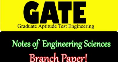 GATE Engineering Sciences (XE)
