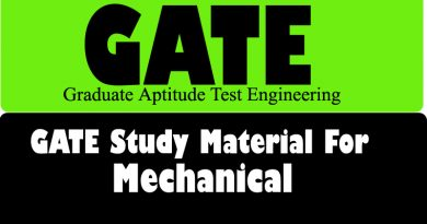 Gate Study Material for Mechanical
