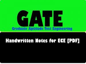 The Best Handwritten Notes for GATE ece