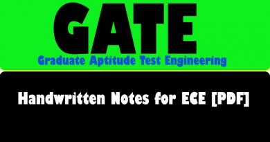 The Best Handwritten Notes for GATE ece