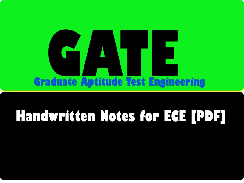 The Best Handwritten Notes for GATE-[ ECE ] Download