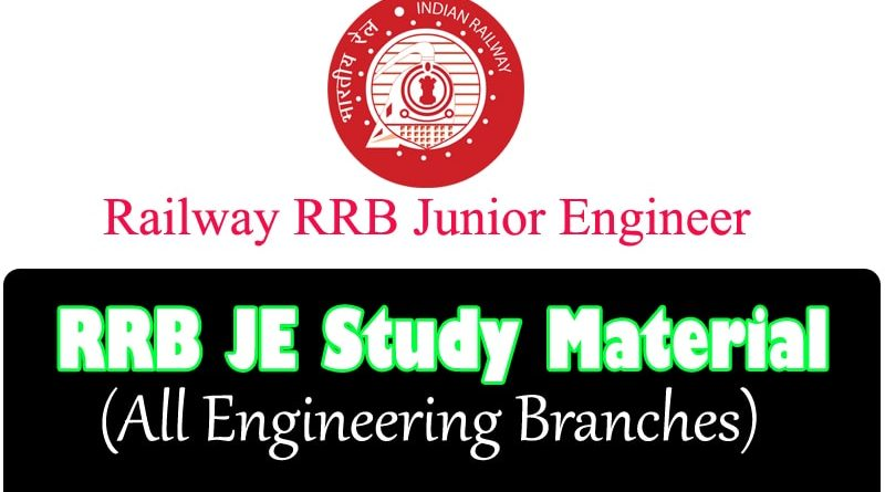 The Best RRB JE Study Material