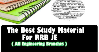 Study Material for RRB JE