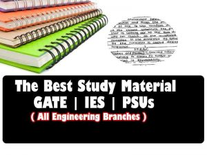 The Best Study Material & Handwritten Notes for GATE | IES | PSUs