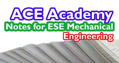 ACE Academy Notes for ESE Mechanical [Pdf] Download