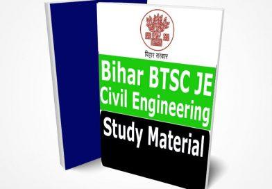 BTSC JE Civil Engineering Study Material Notes 2020-Buy Online Full Syllabus Text Book || Bihar Junior Engineer