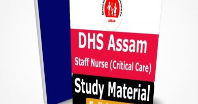 DHS Assam Staff Nurse Recruitment The Best Preparation Book